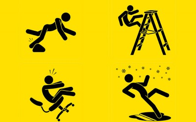 How to avoid slips, trips and falls